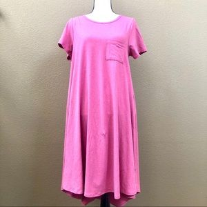 Lularoe hot pink high low midi dress Sz medium